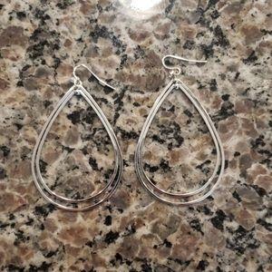 Jewelry - Double Hoop Teardrop Shaped Earrings